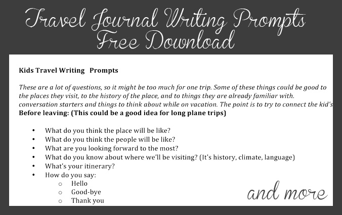 travel journal prompts for kids