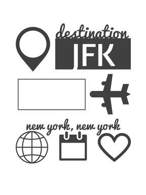New York  Journaling cards - 1 of 29 available for free download.